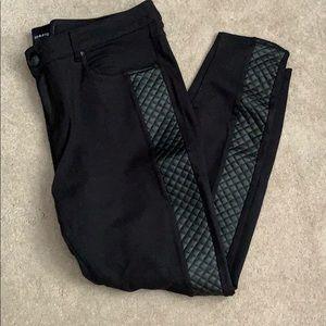 Torrid faux leather side black skinny pants 16